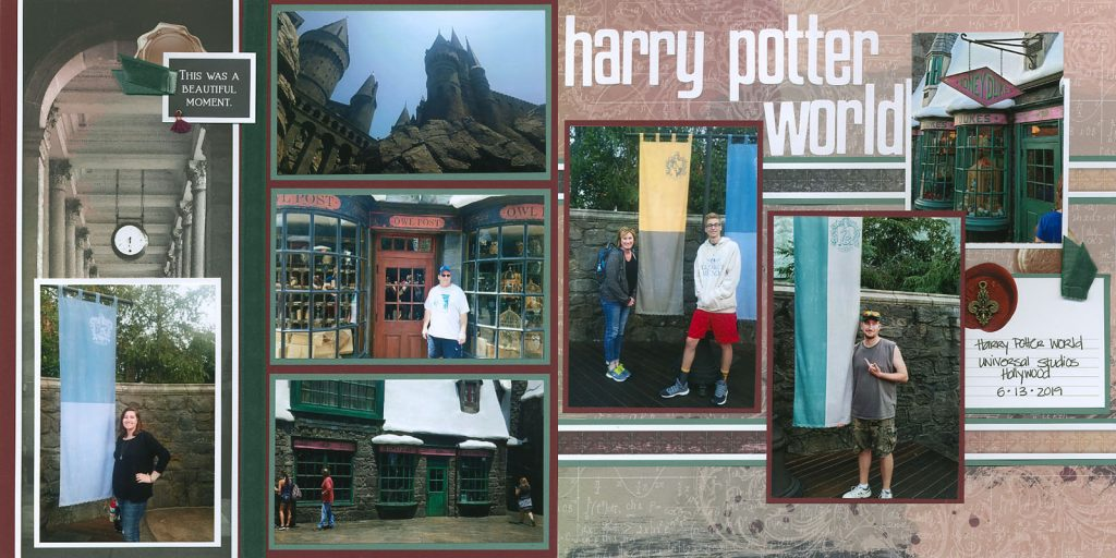 Harry Potter on Ivy League page kit by Karen Wyngaard