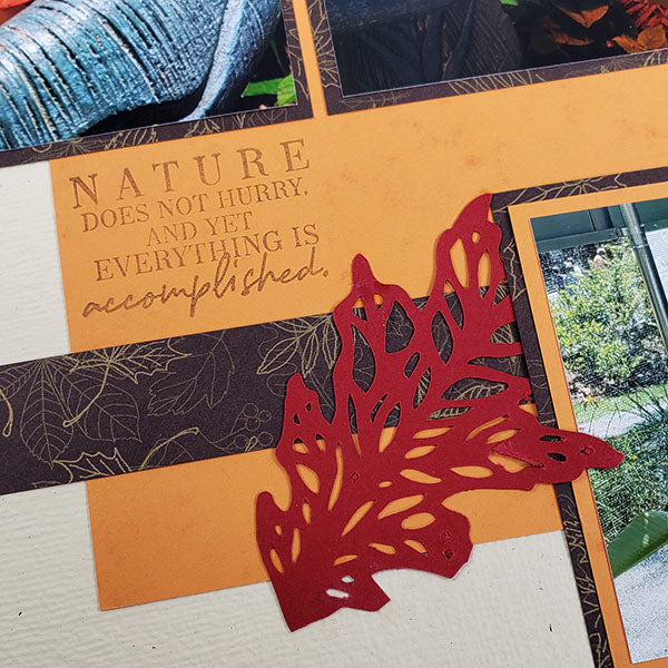 Layout featuring September Leaf Collage cut file by Karen Wyngaard