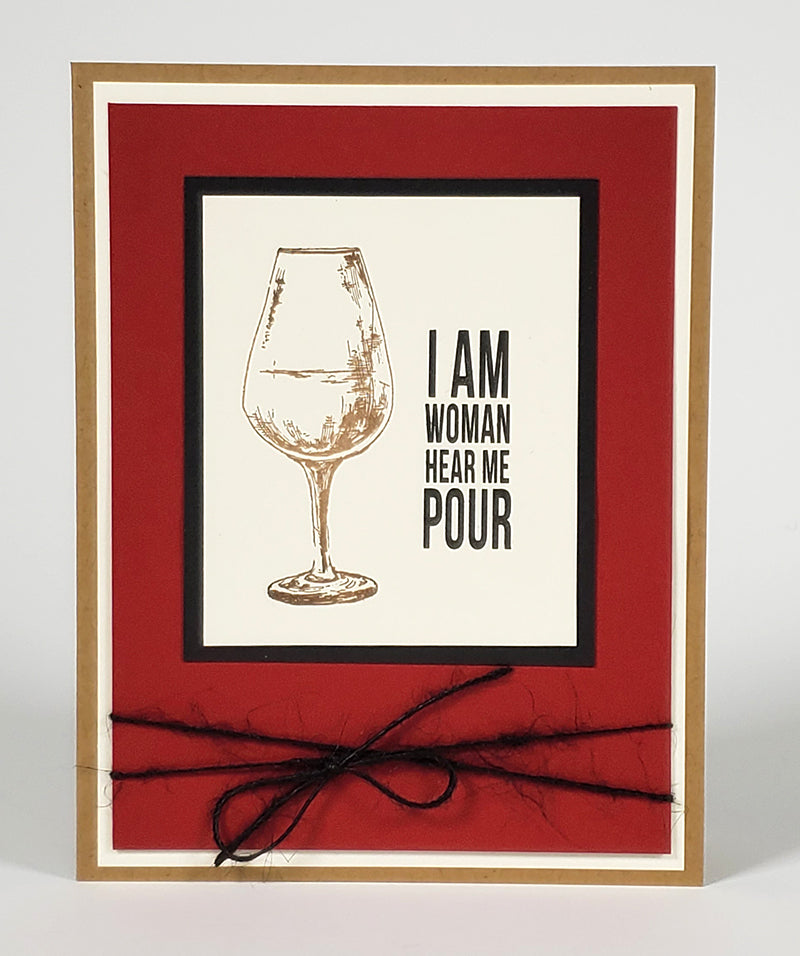 Wine Time Stamps by Club Scrap #clubscrap #winetime #handmadecard #rubberstamping
