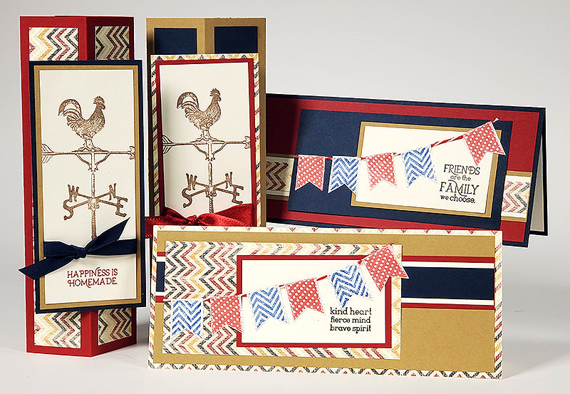 Deluxe Card Making Formula #13 - Vintage Americana Standing Box Cards