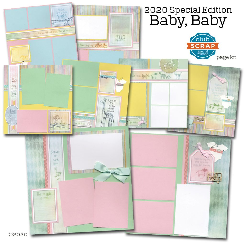 Baby Baby Collection by Club Scrap #pagekit #clubscrap #cardkit #scrapbooking #cardmaking