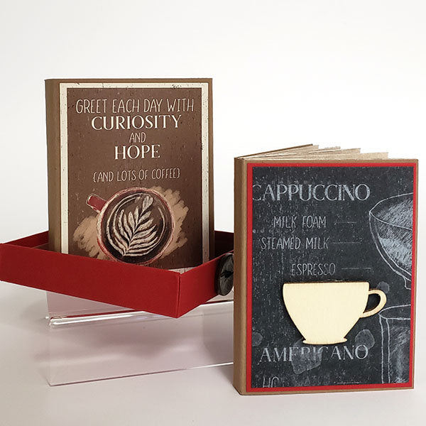 Coffeehouse Maze Book in a Matchbox project #clubscrap