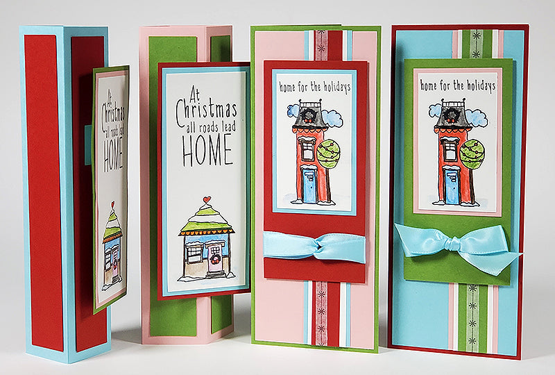 Deluxe Card Making Formula #13 - Christmas in the Neighborhood Standing Box Cards and Slimline Cards