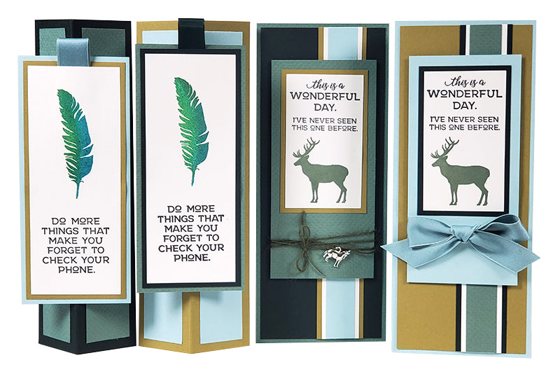 Deluxe Card Making Formula #13 - Pacific Northwest Standing Box Cards and Slimline Cards