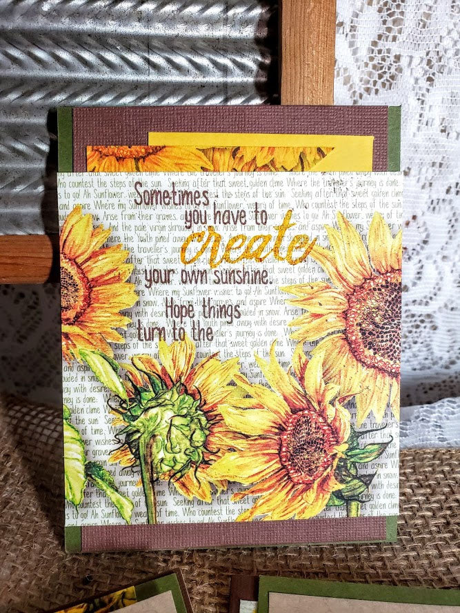 Sunflowers 2-step Stamping #clubscrap #stamping #rubberstamps #techniques