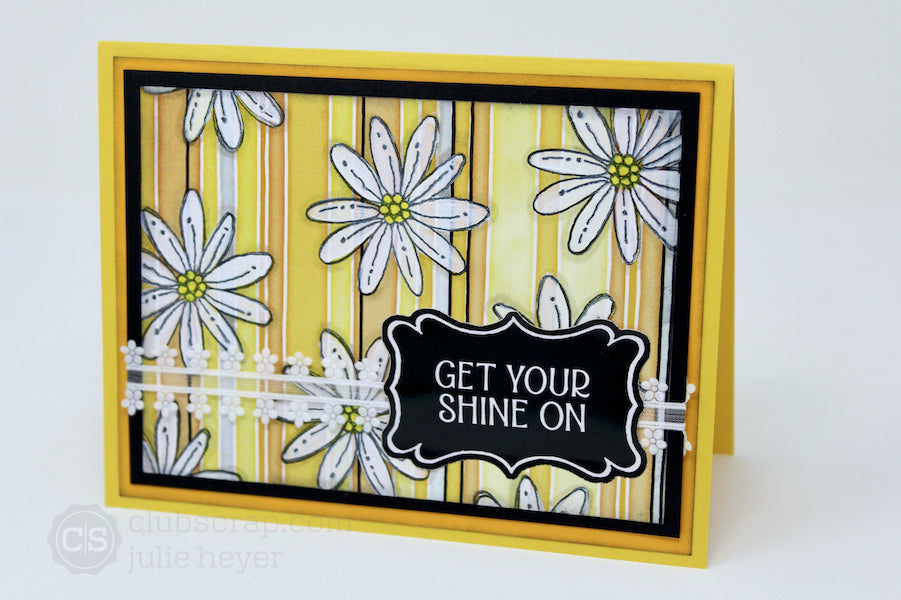 Floating Daisies Hello, Sunshine Card #clubscrap #stamps #technique #daisy