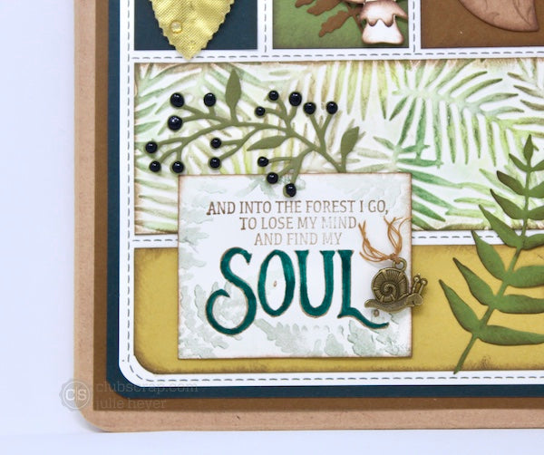 Clipboard Collage #clubscrap #project #diecuts #sizzix #forest #collage