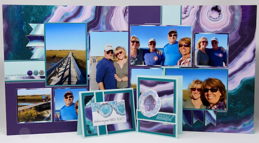 Deluxe Page Formula 1 Geodes Pages and Cards #clubscrap #scrapbooking #cards