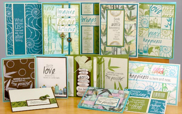 Greeting Cards created with Club Scraps Transformations Kit