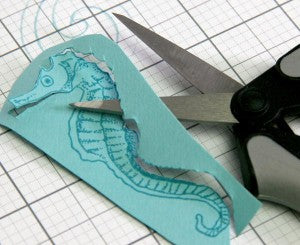 Sea Horse Stamped from Club Scrap's Lagoon Collection #clubscrap #lagoon #seahorse
