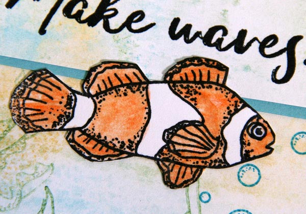 Greeting Card Created With Club Scrap's Lagoon Rubber Stamps #clownfish #clubscrap #lagoon