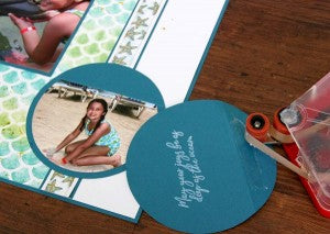 Paper Scales for Club Scrap Lagoon Scrapbook Layout