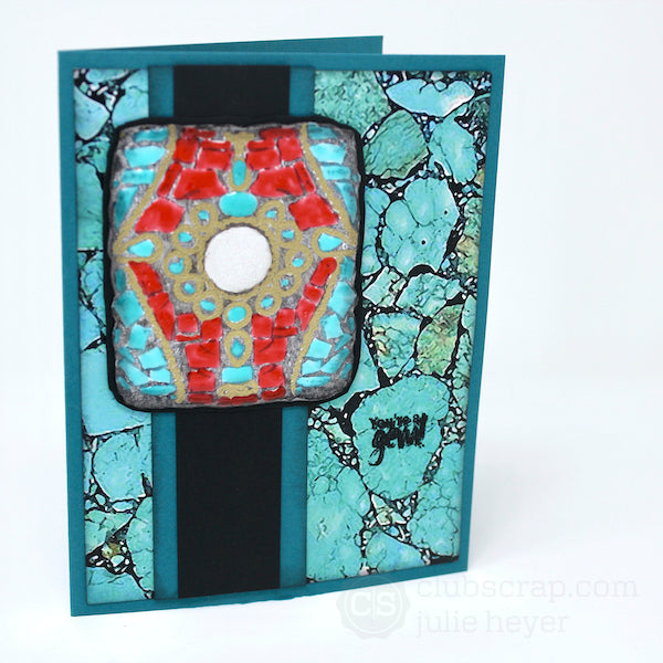 Nuvo Drops Turquoise Embellishments #clubscrap #nuvodrops #cards #turquoise #gems