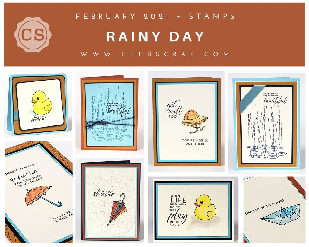 Rainy Day Stamps by Club Scrap #clubscrap #stamps