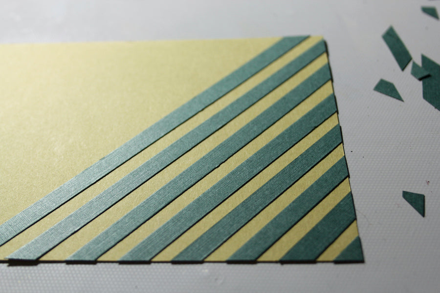 Scrappy Stripes Card #clubscrap #scraps #card