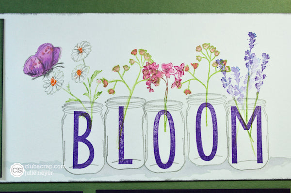 Stamped Title #clubscrap #masonjars #flowers #scrapbooking
