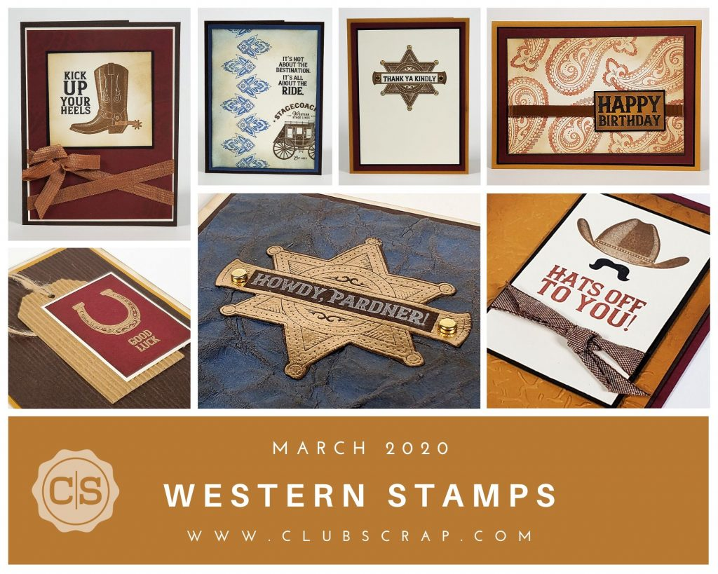 Western Stamps by Club Scrap #clubscrap #rubberstamping #cardmaking #stamps