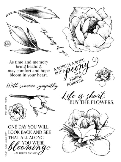 Peony Stamps from Club Scrap #clubscrap