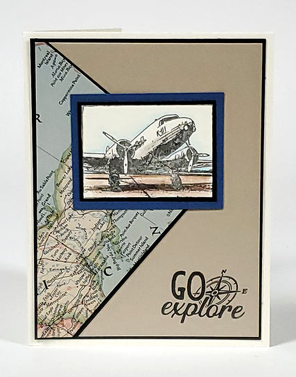 In Transit Stamps Card 5 #clubscrap