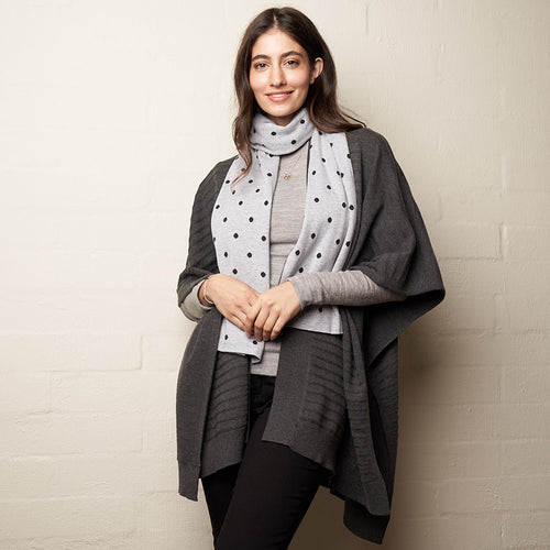 Multi Wool Wrap Charcoal