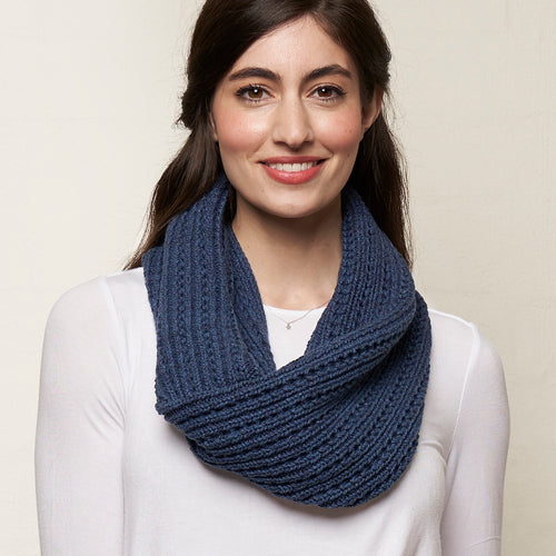 Cotton Snood Denim Blue