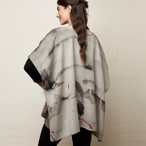 Flamingoes Poncho