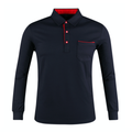 Men's Long-Sleeves Collar Golf Shirts