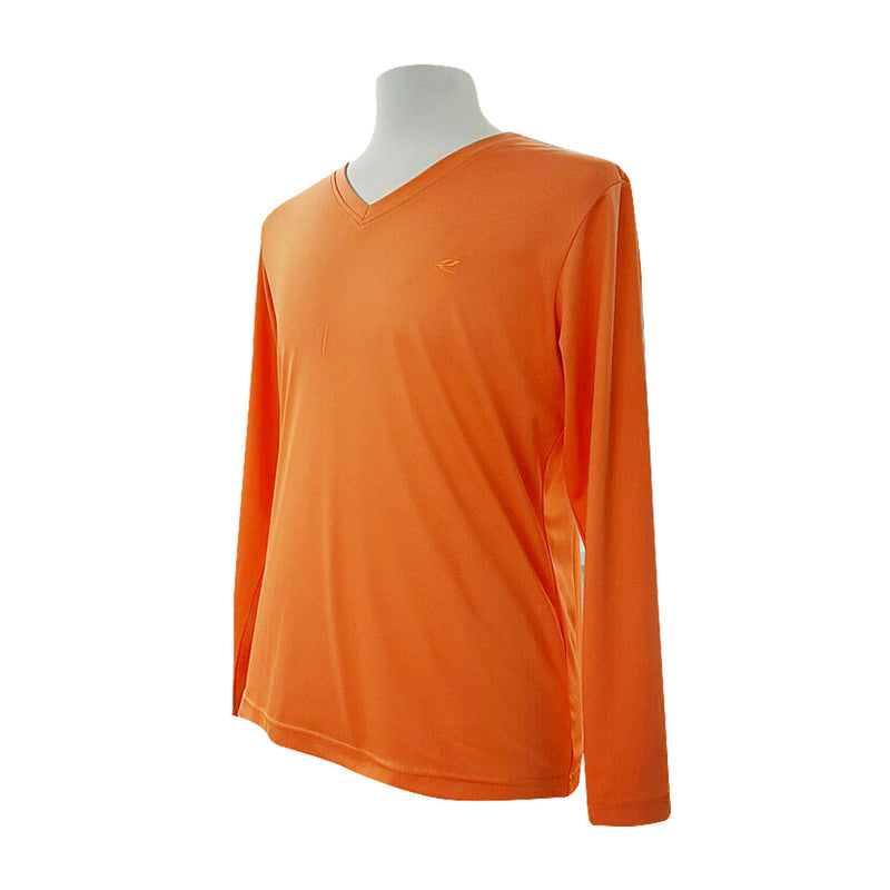Men's Golf V-Neck Shirts Orange