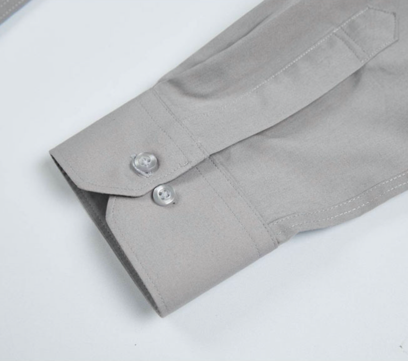 Normal Long Sleeve Y-Shirts Light Gray
