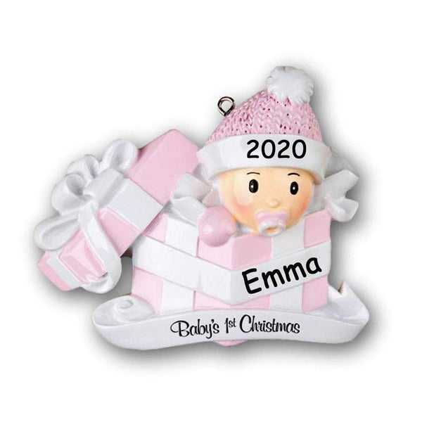 Personalized 2020 Baby's First Christmas Ornament Gift