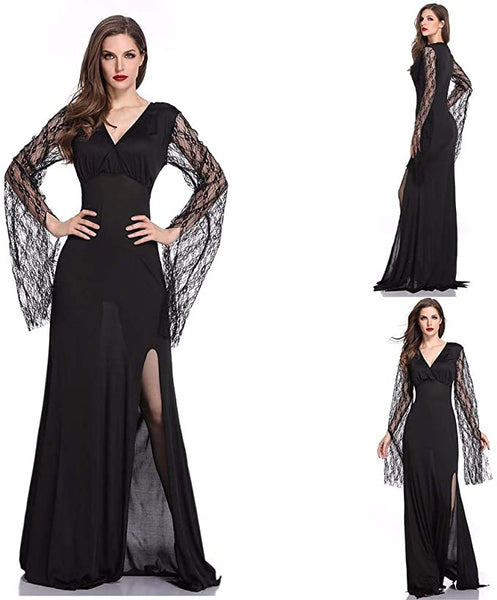 Halloween Women Sexy Costumes, Gothic Witch-Costume for Adults