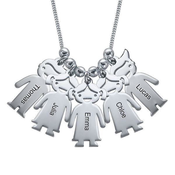 Custom Engraved Children Charms Necklace