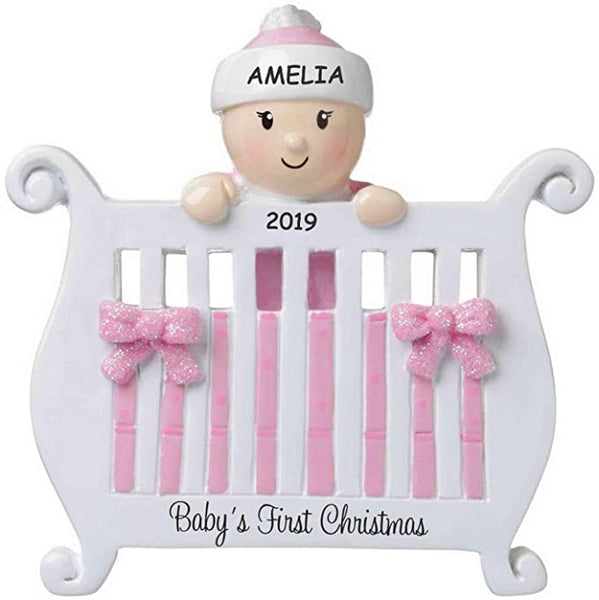 Personalized Baby in a Crib