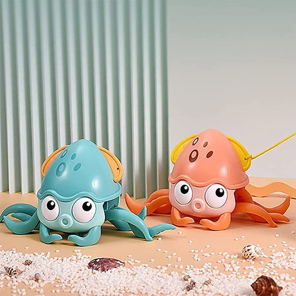 Amphibious Movable Pet Octopus Toy,Baby Octopus Bath Toy
