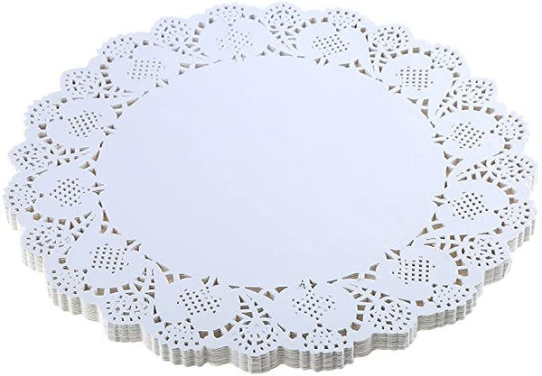 Round White Paper Lace Doilies