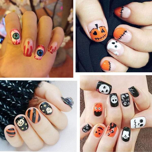 1500 Pcs Halloween Nail Decals Stickers