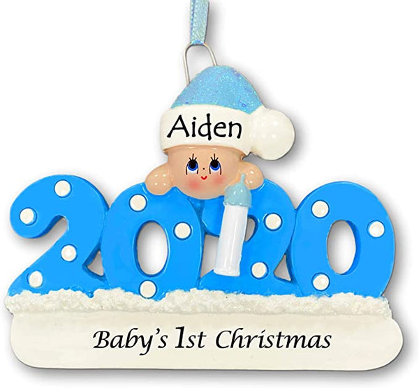Personalized 2020 Baby Christmas Ornament