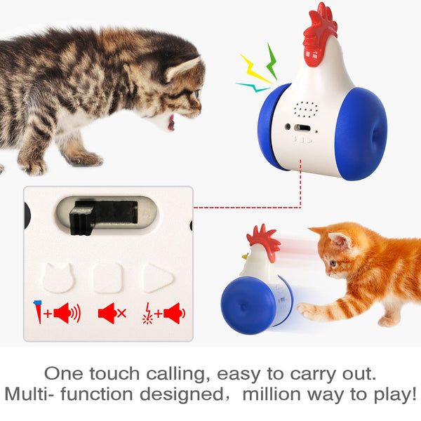 Infrared Chick Cat Toy USB Charging Squeak Animal Toys For Cats