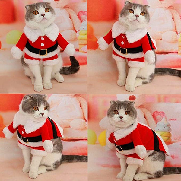 Christmas Santa Claus Suit Costume for Small Boy Dogs