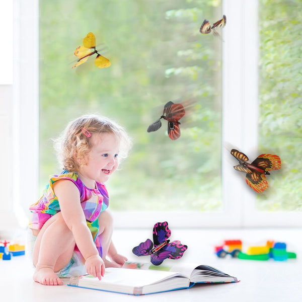 Magic Wind Up Flying Great Surprise Gift Butterfly