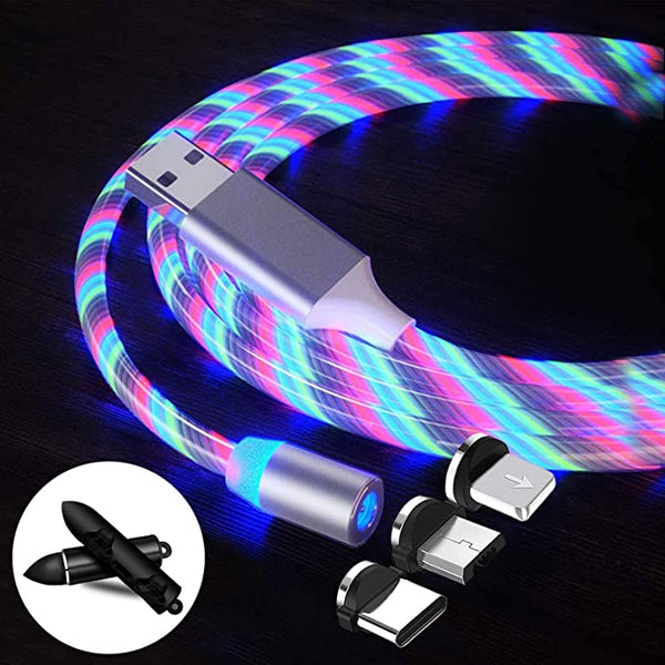 Visible Flowing Lighting USB Charger Cords