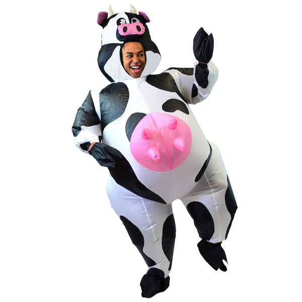Inflatable Costume Air Blow-up Deluxe Halloween Cow Costume