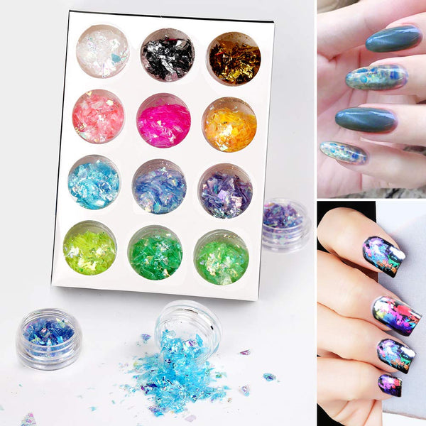nail rhinestones and 36 tins of foil