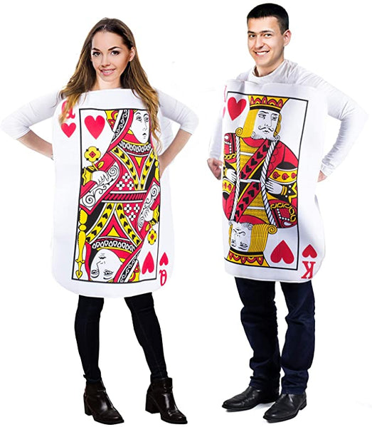 King and Queen Card Costume, Poker Cards Costume, Couple Costume