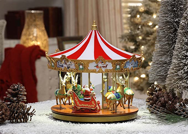 Christmas carousel.The coolest Christmas decorations in 2020