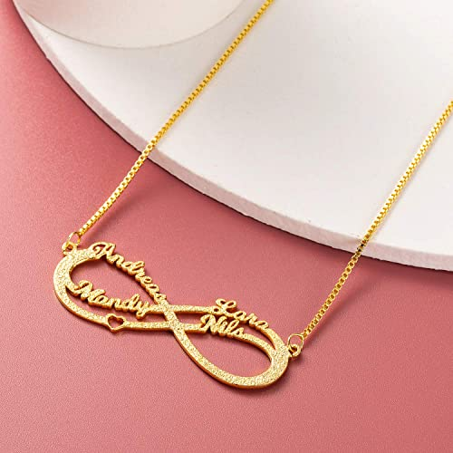 Custom Name Necklace, Personalized Infinity Necklace for Mom