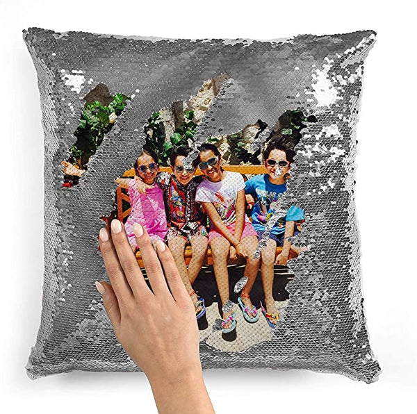 Personalized Flip Reversible Sequin Pillow Cover