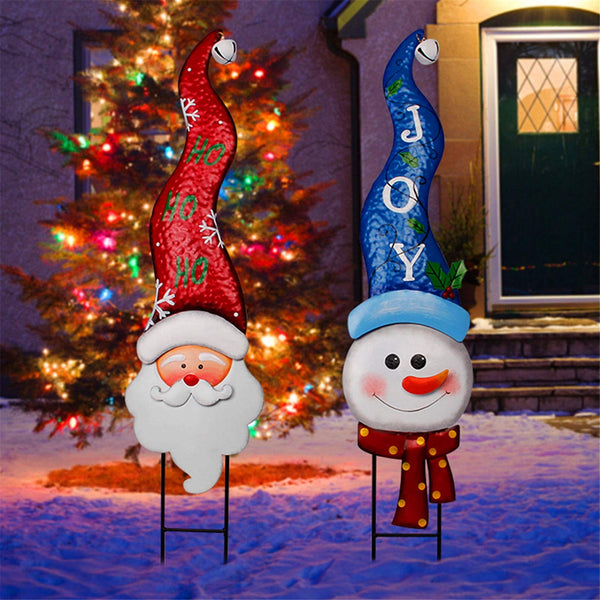 Christmas Metal Stakes with Tinkle Bell