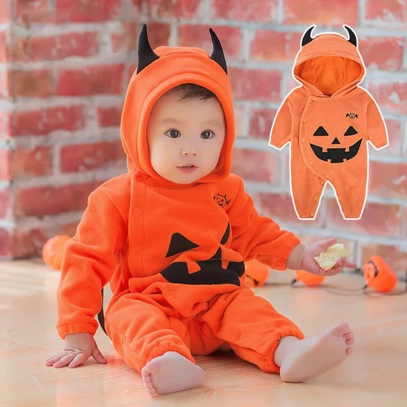 Baby Pumpkin Hooded Outfit Halloween Costume