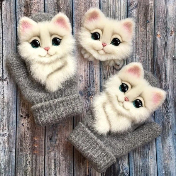 Hand-Knitted Pet Gloves